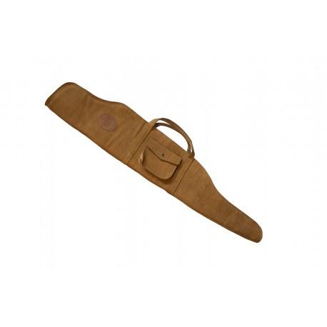 Handmade leather hunt rifle case